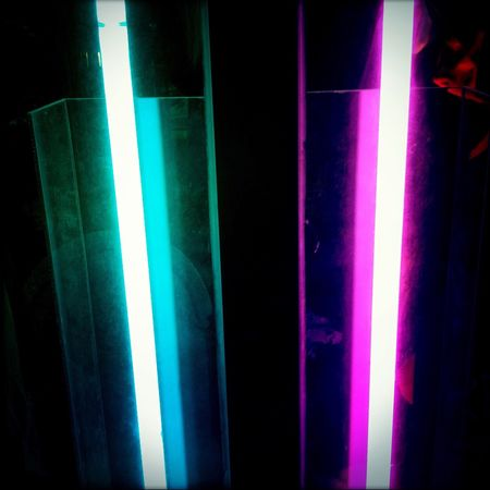 Illuminated No People Green Color Indoors  Close-up Night Multi Colored Neon Neon Lights Neon Life Aesthetics Vaporwave Pink And Blue Pink Teal Retrofuturism Future Futuristic