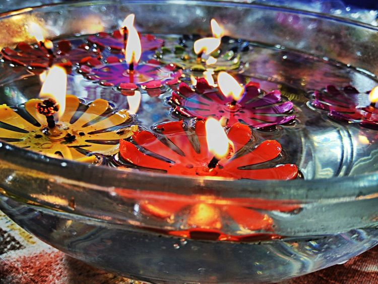 Close-up No People Multi Colored Indian Festival Diwali Floating Candle EyeEmNewHere EyeEm