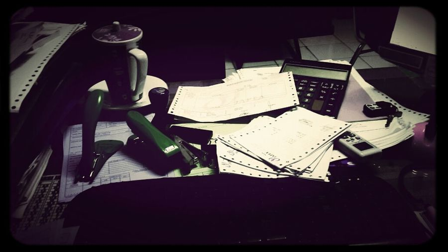 My Desk At Work Today So Messy ??? Light Up Your Life Mizz Nunuy EyeEm Indonesia Eye4photography  Hello World Working Details Of My Life