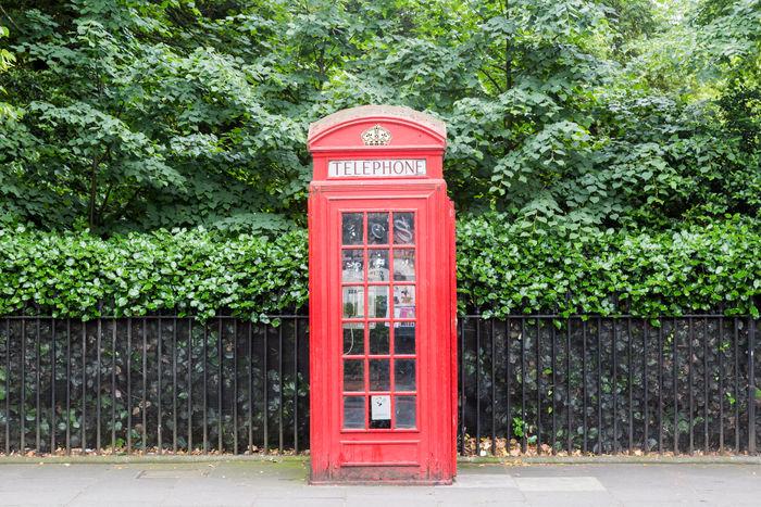 Telephone Box Communications Horizontal Iconic London Red Telecommunications Telephone Telephone Box