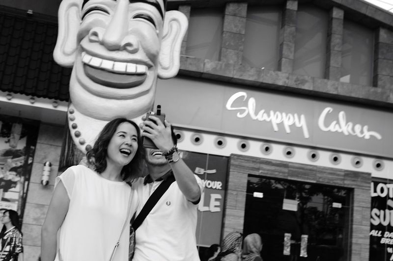 Smile ! Streetphotography People Blackandwhite People Photography Smile People Watching