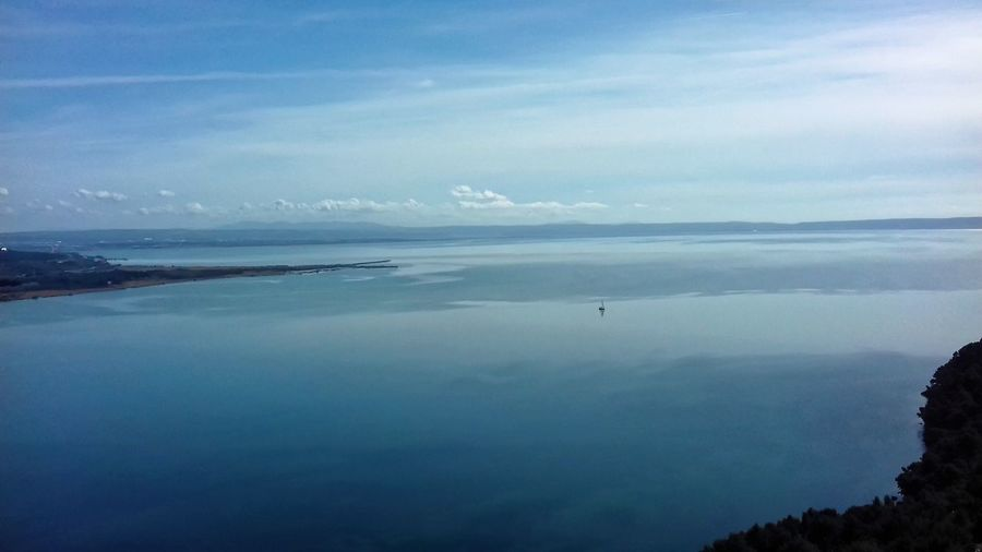 Étant de l'Olivier Sea Nature Scenics Water Beauty In Nature Tranquility Sky Blue Tranquil Scene Beach No People Outdoors Horizon Over Water Landscape Cloud - Sky Day Mountain