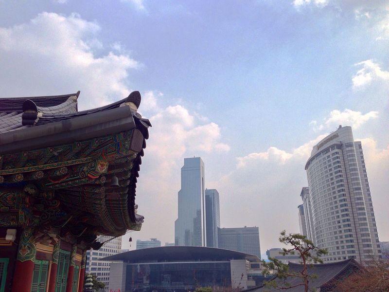 Bongeunsa Temple South Korea Seoul Traveling Cityscapes ASIA Buddhism The City Light