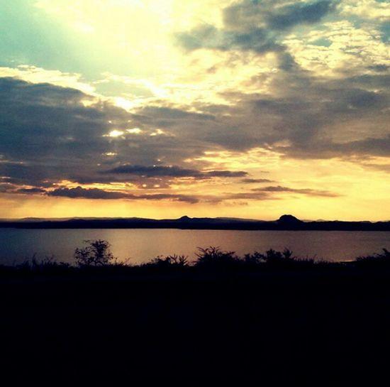 Getting Creative beautiful sunset at letaba dam
