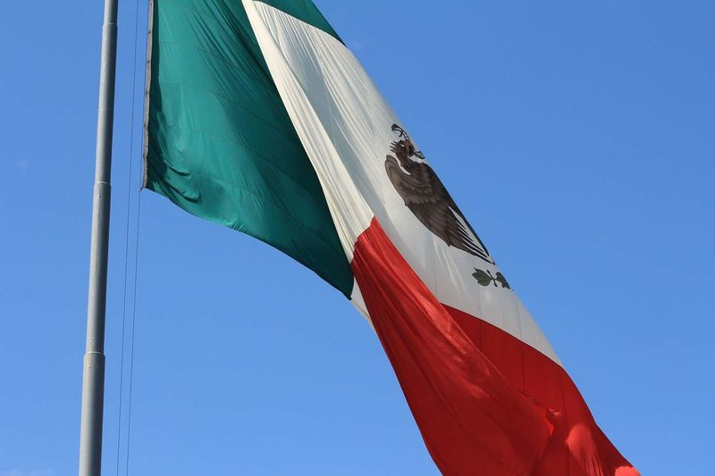 Low angle view of mexican flag