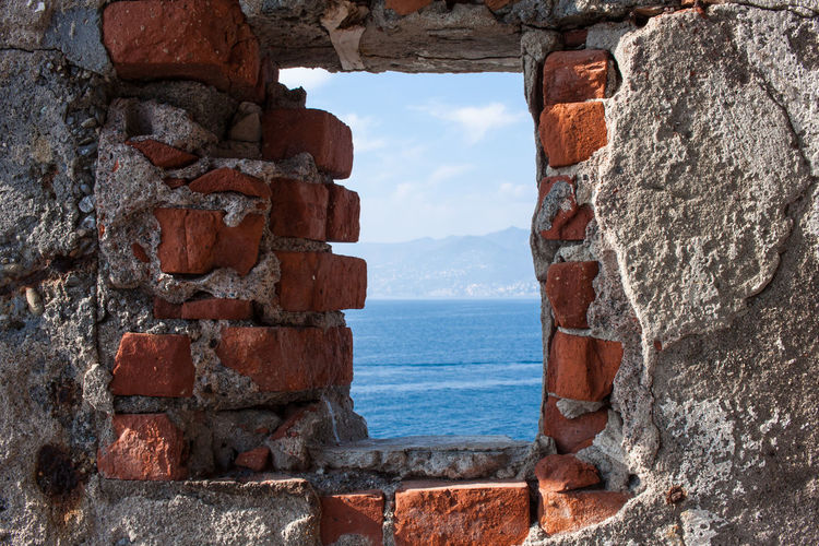 Brick Wall Architecture Beauty In Nature Day Horizon Over Water Nature No People Sea Sky Water