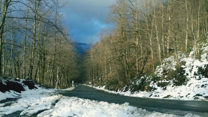 ... Snowyroad Road Blue FirstEyeEmPic First Eyeem Photo Adult Adults Only New Eyeem Snow Snow ❄ Sun Sunset Field Blue Sky Winter Cold Temperature Weather Nature Frozen Tree No People Day Outdoors Sky Mountain