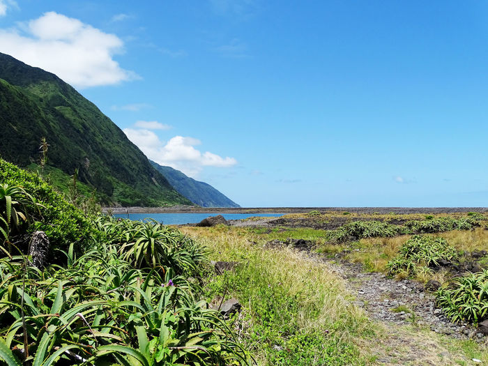 Azores Mountain Water Sky Grass Landscape Mountain Range Tranquil Scene Tranquility Scenics Calm