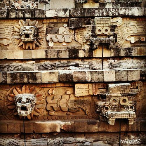 Mexico Piramid Teotihuacan Quetzalcoatl
