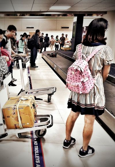 Travel Travel Photography Airport Luggage Trolley Conveyor Belt Waiting Waiting In Line First Funny People People Watching Fast Ready Steady Go! Chaos Human Nature Human Meets Technology On The Way People Together