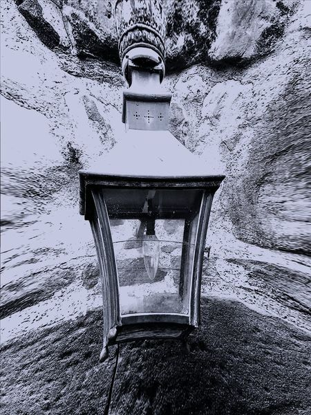 Ancient with New Outdoors Architecture Light Low Angle View Bulb Lantern Wall