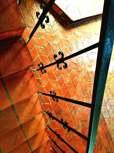 Day Architecture No People Old Town San Diego Junipero Serra Museum Presidio Of San Diego Looking Down Tile Floor Pavers Spanish Architecture San Diego History Wrought Iron Railing Stairs