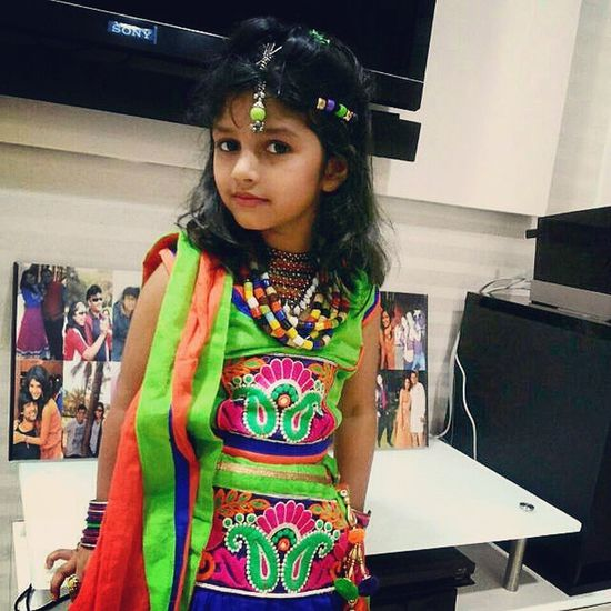 Happy Navratri Dandiya Garba mataji ambey play devotional traditional dress code of baby girl me my instadaily instamood instagramers colour attractive bestoftheday picture pic click tags TFLers TagsForLikes instagram love