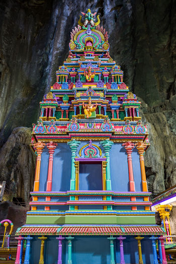Kuala Lumpur Belief Religion Built Structure Place Of Worship Architecture Spirituality Art And Craft Building Building Exterior Low Angle View Sculpture Craft Creativity No People Multi Colored Statue Representation Outdoors Ornate Shrine Carving Batucaves