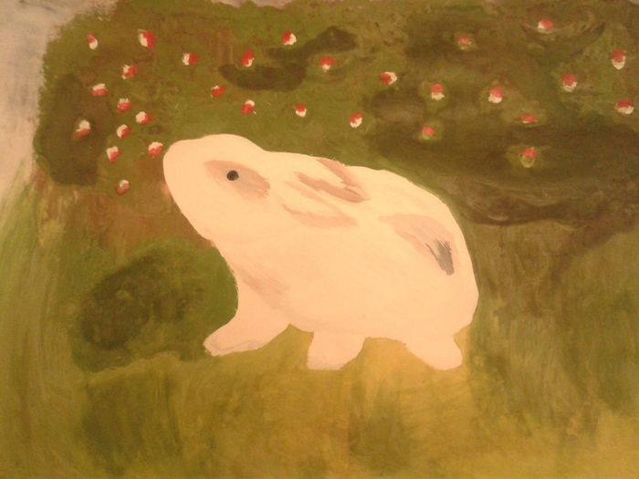 happy to finish MyDrawing with my Bunny . Publishing with Nolayers. It may look childish but I love it!