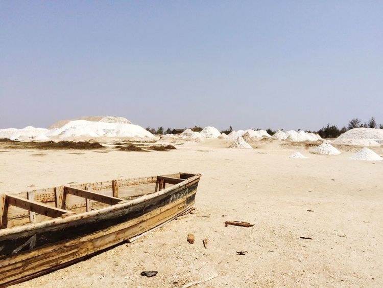 Sand No People Beach Outdoors Sky Travel Senegal Africa Afrique Boat Bateaux Barques Sel Salt Pink Lake Lac Rose Landscape