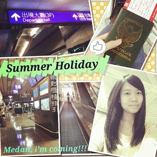 bye2 taiwan, see u 2 months later.. Summer Holiday Taoyuaninternationalairport Terminal2 hapinesshomesick
