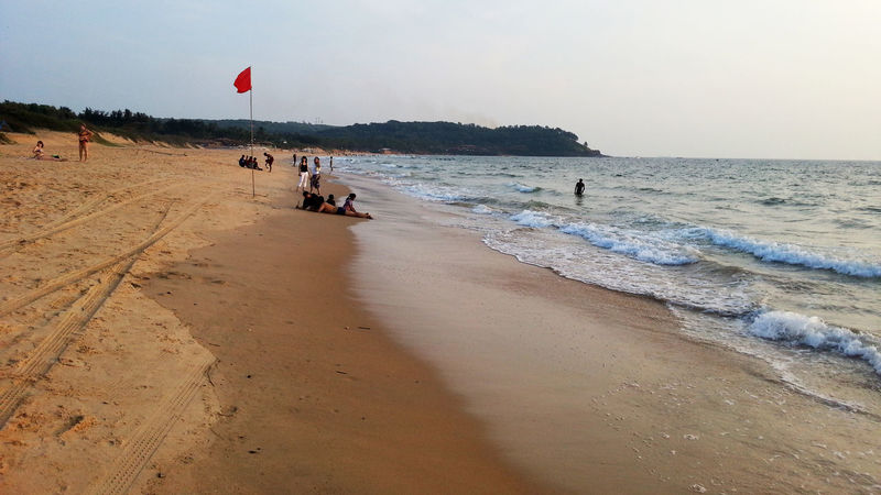 Sunset in Goa Beach Beauty In Nature Clear Sky Day EyeEmNewHere Horizon Over Water Leisure Activity Men Nature One Person Outdoors People Rakeshtiwari Real People Sand Scenics Sea Shore Sky Sunset Vacations Water Wave