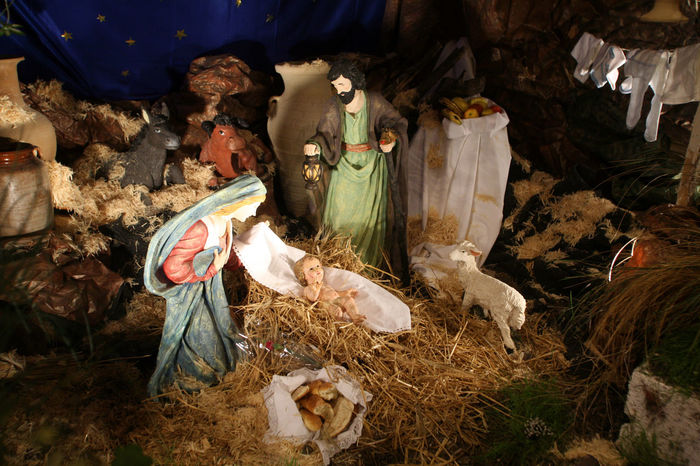 Nativity scene, Cana, Church of the Miracle Bethlehem Caña Christianity Christmas Church Creche Faith God Holy Israel Jesus Joseph Kings Magi Manger Nativity Scene Peace Religion Religious  Saint Shepherds Spiritual Stella Maris Virgin Mary Wise Man
