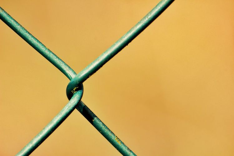 Close-up of chainlink fence against 8