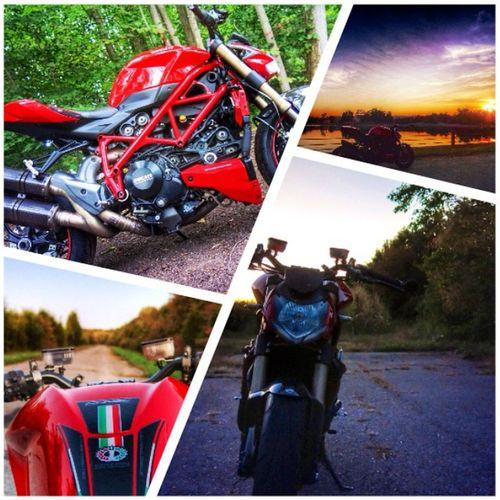 Hello Autumn. Adventurenight Offroad Abandonedroads Sunset ducati ducatistreetfighter
