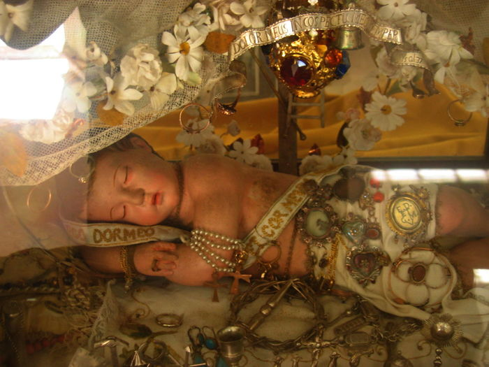 Baby Jesus Church Creativity Culture Erice Italia Glass Human Representation Indoors  Lifestyles Reflection Religion Sicily, Italy