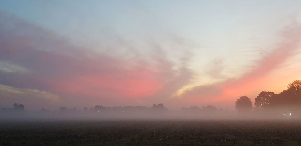 morning mist Clouds And Sky Multi Colored Sunset Dawn Fog Beauty Water Mountain Red