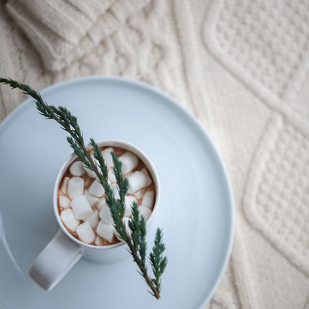 Food Hot Drink Winter Beverages Beverage Christmas Sweets Pattern Texture Background Christmas Winter Wintertime Holiday Gingerbread Cookie Baking Cookies Ornaments Flat Lay White Cozy Sweater Light Biscuit Overhead View Season