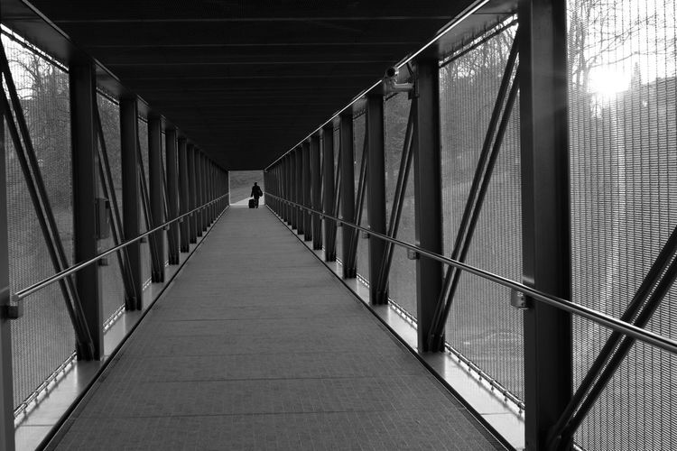 Black And White Photography Streetphoto_bw The Way Forward Direction Architecture Built Structure Diminishing Perspective Bridge Connection