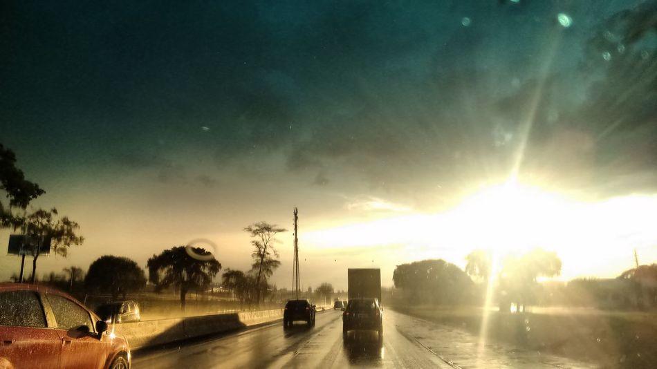 Car Transportation Sunset Rain Pallete Color Palette Windshield Street Cityscape City No People Land Vehicle Sky