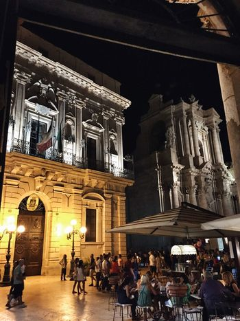 Palazzo Vermexio (1600) Great Atmosphere Night Streetphotography Getting Inspired Ortigia Sicily Enjoying The View Architecture_collection Architecture Ortigia By Night Duomo - Ortigia