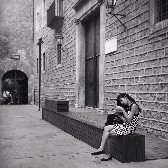 Her Blackandwhite Barcelona Street Photography