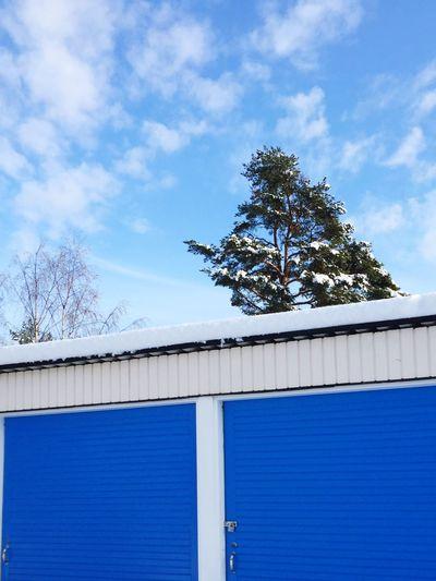 Building Exterior Low Angle View Sky Winter Blue Color Blue FavoriteColors