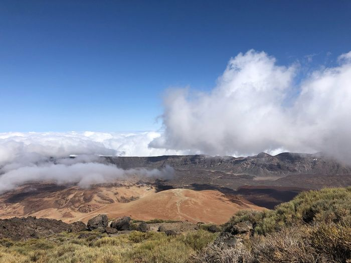 Teide, Tenerife Cloud Volcano Teide SPAIN Teide National Park Tenerife Nofilter Sky Beauty In Nature Scenics - Nature Cloud - Sky Nature Day Geology Environment Tranquil Scene Power In Nature Non-urban Scene Landscape Land Outdoors