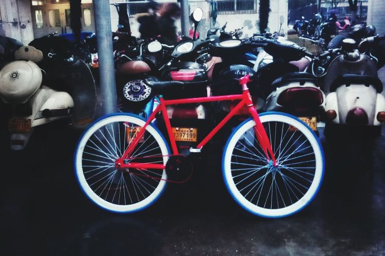 PhonePhotography Nightphotography Transportation Bicycle Mode Of Transport Outdoors Day No People Land Vehicle
