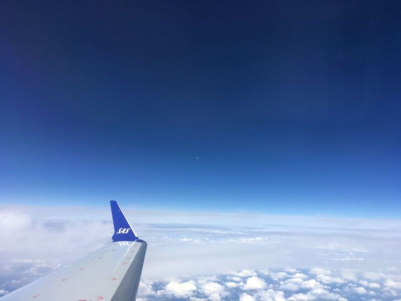 Moon Aerial View Airplane Airplane Wing Blue Cloud - Sky Day Flying Nature No People Outdoors Sky Transportation