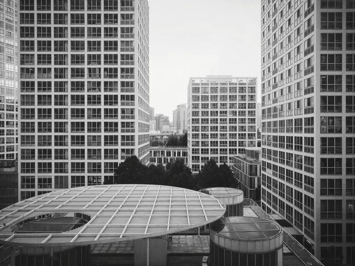 Architecture Skyscraper Building Exterior Built Structure Outdoors City No People Day Cityscape Modern Black And White Huawei P9 Photos City Life Lines And Patterns Beijing, China Lines & Curves Round And Square