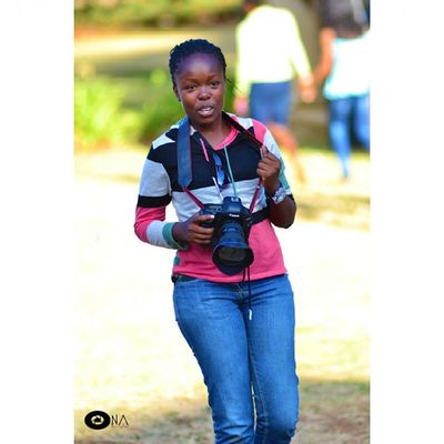 Essie got a chance to try out what it feels to be a photographer, she loved it! USIU CultureWeek2015 @culture_week_2015 @usiuafrica