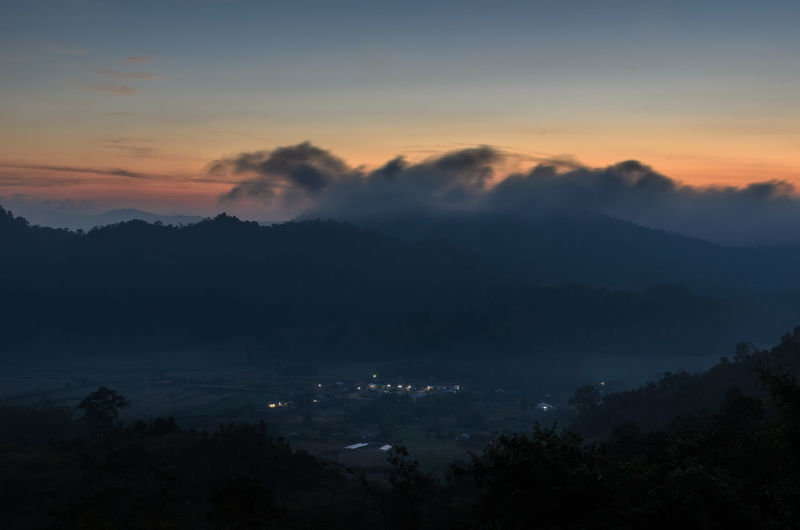 Phu Pa Po Mountain at Loei province, Thailand Green Loei Sky And Clouds Thailand Travel Tree View Wildlife & Nature Beauty In Nature Forest Fuji Landscape Mountain Night North East Thailand Orange Color Outdoors Phu Silhouette Sky Sun Sunset