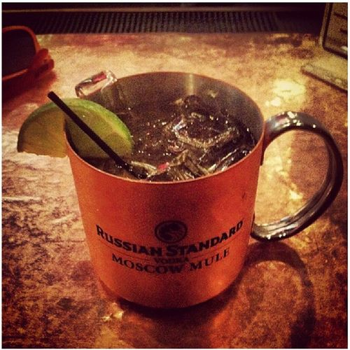 Double shot Moscow Mule to end my night Solo Stressed Fuckittho