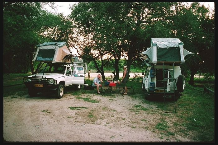 Campsite, on our way to Kasane and Victoria Falls Tree Day Transportation No People