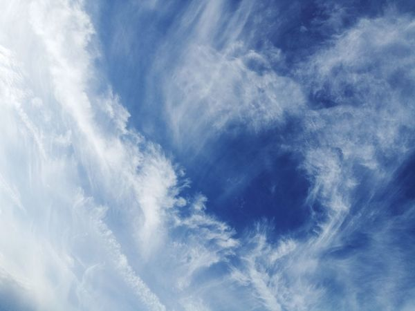 Cloud - Sky Sky Weather Blue Sky Only Nature Backgrounds Cloudscape Dramatic Sky Cirrus Scenics Wispy Beauty In Nature Wind No People Low Angle View Day Outdoors