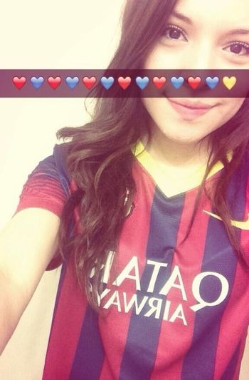 I love my team ⚽️ FC Barcelona Soccer Championsleague Viscabarca Selfie