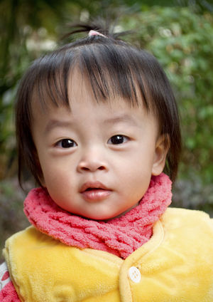 Portrait Childhood Baby Chinise Baby