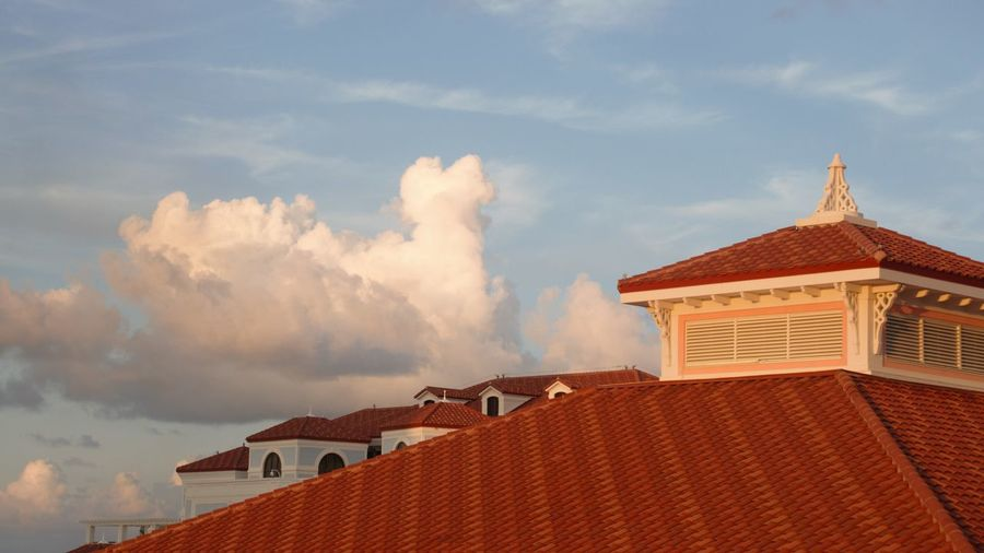 Sunset in Paradise Architecture Building Building Exterior Cloud - Sky House No People Outdoors Roof Roof Tile Sky