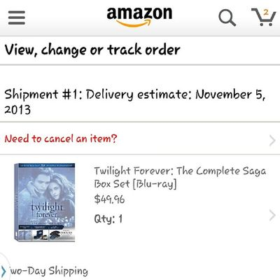 AHHHHHHHHH look what ships out Tomorrow Twilightforever TeamEdward Forks vampiresaddictedtwilightmarathon