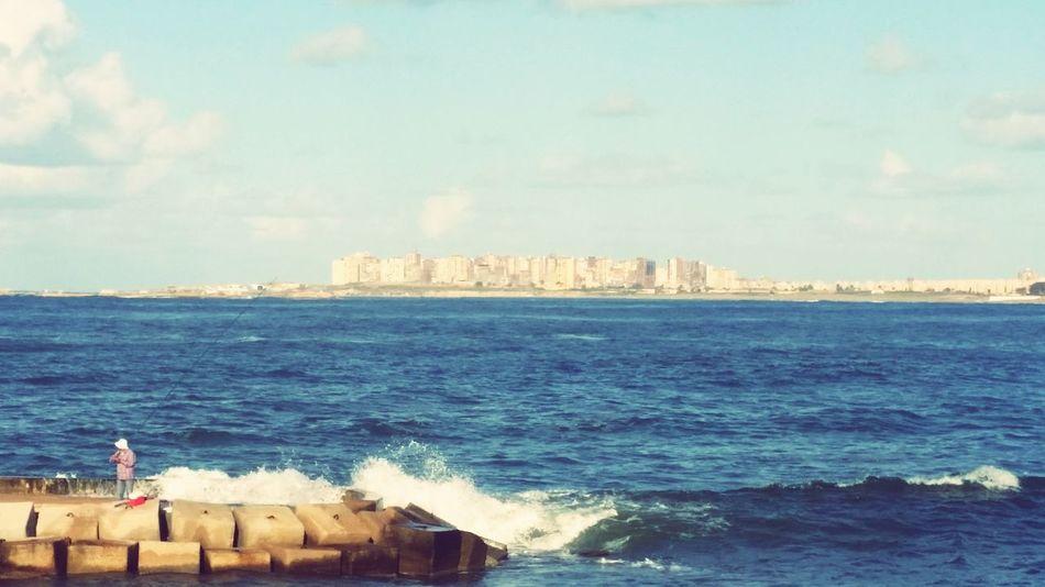 Alexandria Elmontazah Palace Winter Fishing Sea Mobilephotography