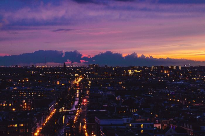 Color Sky City Traffic Citylights Cityscape Sunset And Clouds  Colorsky Colorful Architecture Illuminated Built Structure Cityscape City Sky Colour Your Horizn Night Sunset Outdoors Cloud - Sky No People