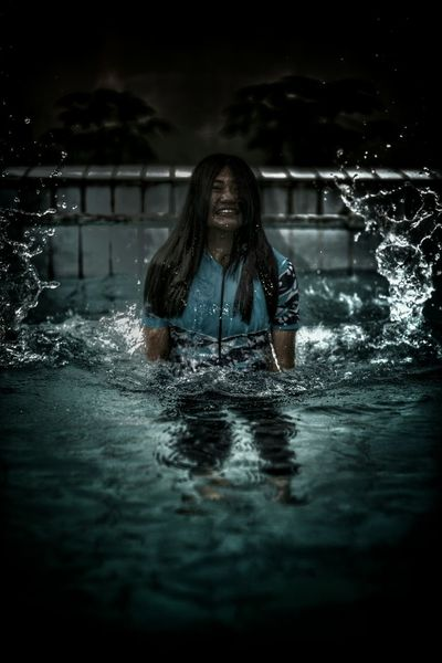 The Modern Sadako. Now showed up from a pool instead of old-fashioned well  EyeEmbestshots Taking Photos Eye4photography  Art