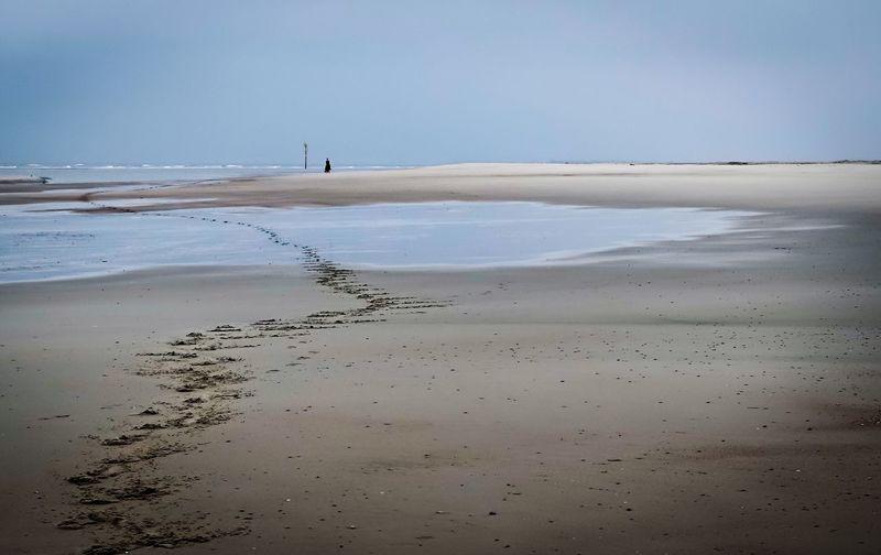 Strand, Reiter, Sand, Spuren, Pferd, Norderney, Weiße Düne